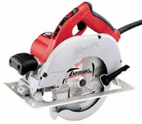 Milwaukee 7-1/4-Inch Circular Saw with Blade on Left