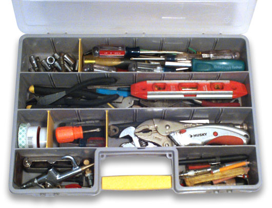 Tools inside the tool box