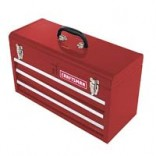 3 Drawer Red Metal Tool Box
