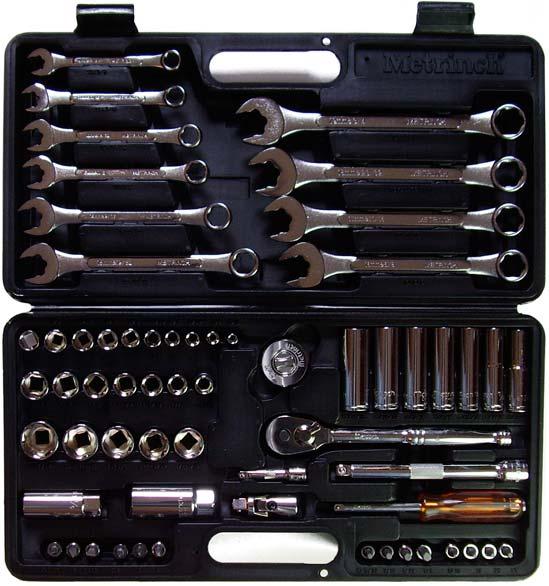 Metrinch Socket Set Open Case 62-piece